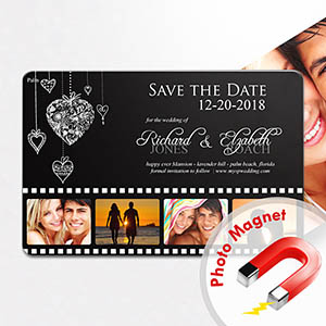 Personalized Fridge 4x6 Large Like In Movies Save The Date Magnet