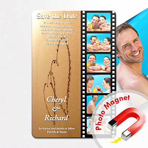 Personalized Fridge 4x6 Large Love Filmstrip Save The Date Magnet