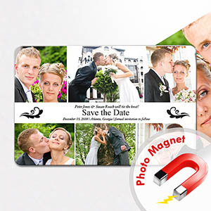 Personalized Fridge 4x6 Large Stamp Of Approval Collage Save The Date Magnet