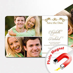 Personalized Fridge 4x6 Large Label Of Love Collage Save The Date Magnet