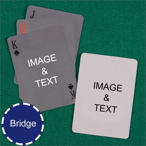 Bridge Size Playing Cards Simple Custom 2 Sides