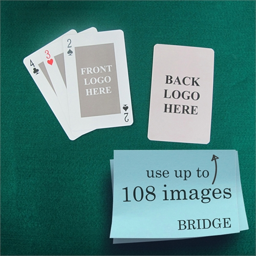 Bridge Size Playing Cards Classic Custom 2 Sides
