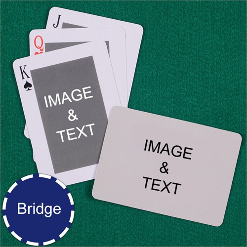 Bridge Size Playing Cards Classic Custom 2 Sides Landscape Back