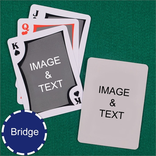 Bridge Size Playing Cards Modern Custom 2 Sides