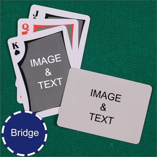 Bridge Size Playing Cards Modern Custom 2 Sides Landscape Back