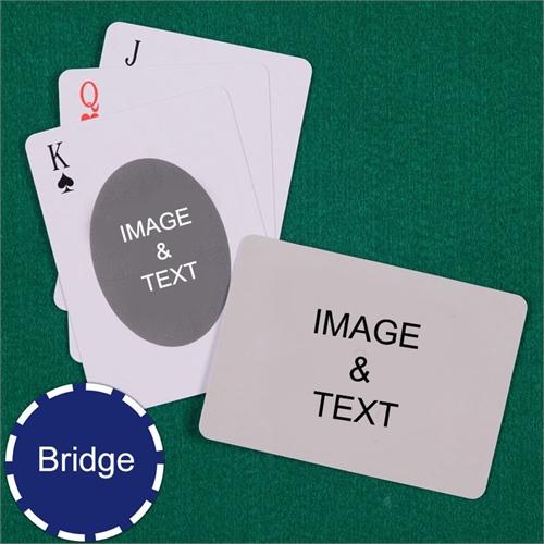 Bridge Size Playing Cards Ovate Custom 2 Sides