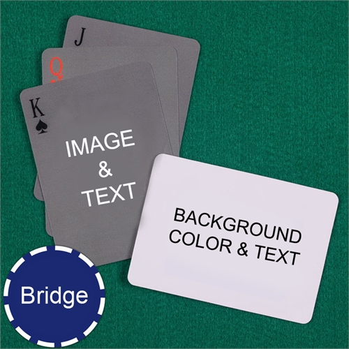 Bridge Size Playing Cards Simple Personalized 2 Sides Landscape