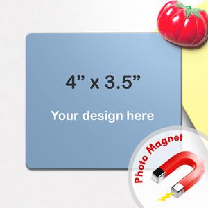 "4""x3.5"" Custom Photo Magnet, Landscape"