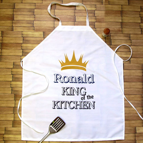 King Of The Kitchen Personalized Adult Apron