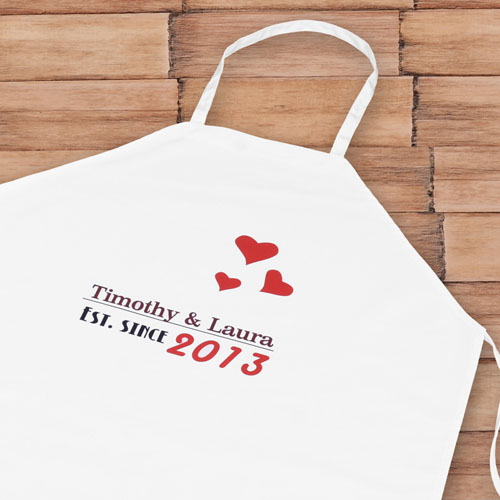 Est. Since Personalized Adult Apron