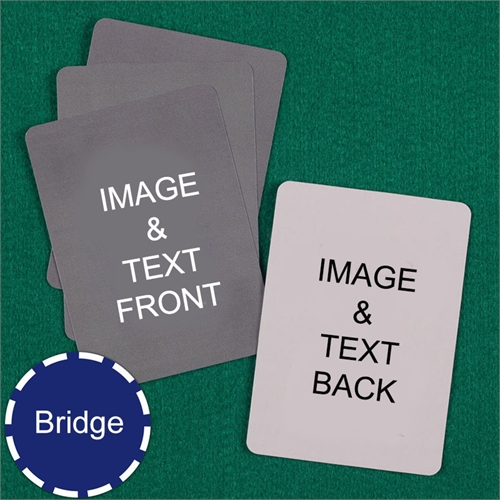 Bridge Size Playing Cards Custom Cards (Blank Cards)