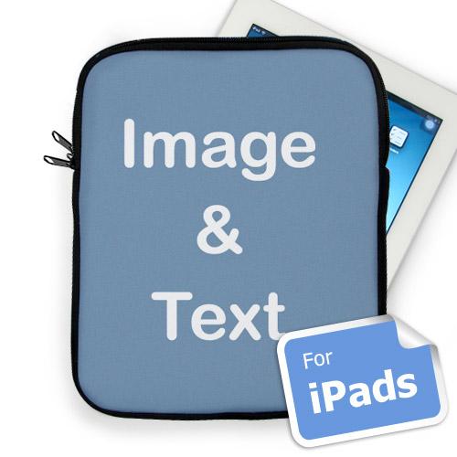 Custom iPad Sleeve, Portrait Image