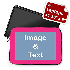 Personalized Photo Hot Pink Border Laptop 11