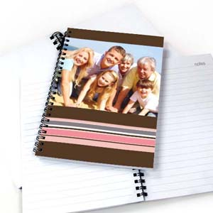 Create Your Own Colorful Stripes Notebook, Chocolate