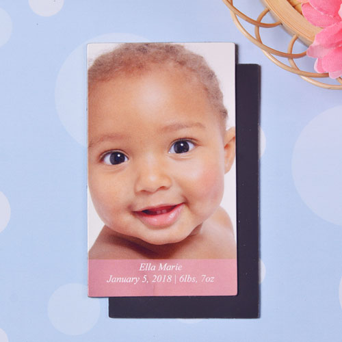 Baby Girl Personalized Photo 2x3.5 Magnet