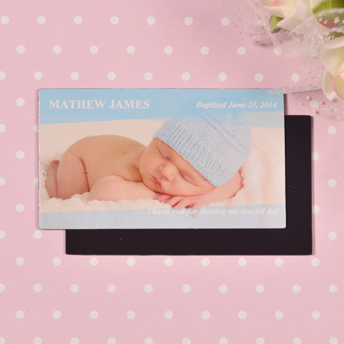 DIY Baby Blue Photo 2x3.5 Card Size Magnet