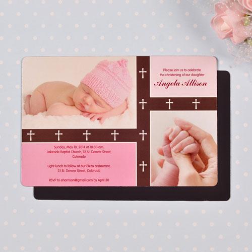 Personalized 4x6 Large Baby Blessing Girl Photo Fridge Magnets