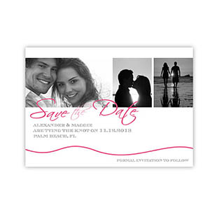 Create Your Own Tying The Knot, Pink Wedding Invitations