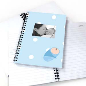 Create Your Own Polka Dots Boy Birth Notebook
