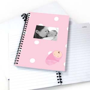 Create Your Own Polka Dots Girl Birth Notebook