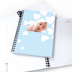 Create Your Own We Heart Baby Boy Notebook