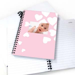 Create Your Own We Heart Baby Girl Notebook