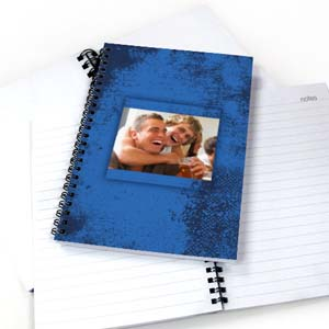 Create Your Own Modern Blue Texture Notebook