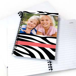 Create Your Own Zebra Pattern Photo Notebook, Hot Pink