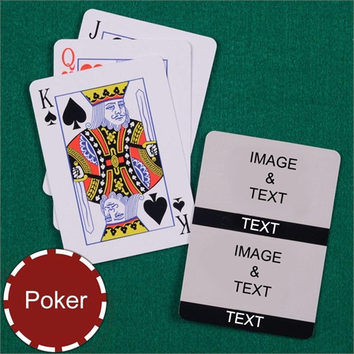 Personalized Poker Size Black Two Collage Photo Playing Cards