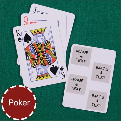 Poker Size White Four Square Collage