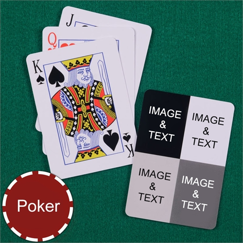 Personalized Poker Size Four Collage Photo Playing Cards