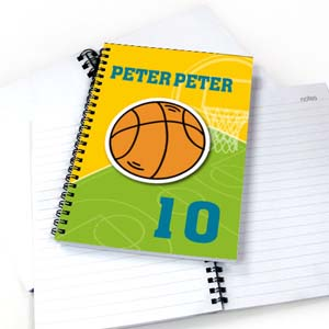 Personalized Athletic Notebook, Basketball