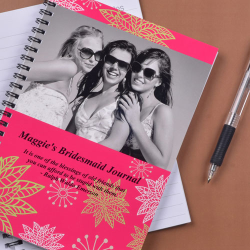 Create Your Own Floral Corner Photo Notebook