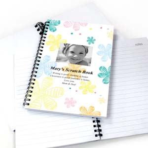 Create Your Own Retro Flowers Star Photo Notebook