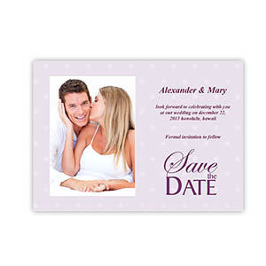 5x7 Wedding Day Save the Date, Portrait Photo