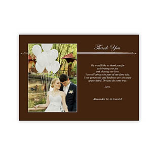 Create Your Own 5X7 Band Of Chocolate Thank You Card, Landscape