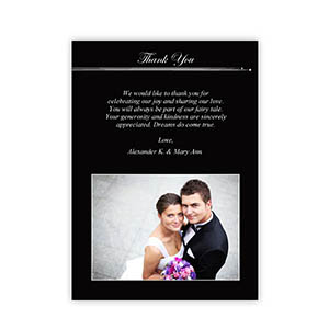 Create Your Own 5X7 Band Of Black Thank You Card, Portrait