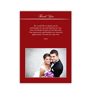 Create Your Own 5X7 Band Of Red Thank You Card, Portrait