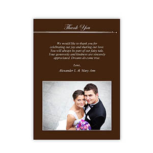 Create Your Own 5X7 Band Of Chocolate Thank You Card, Portrait