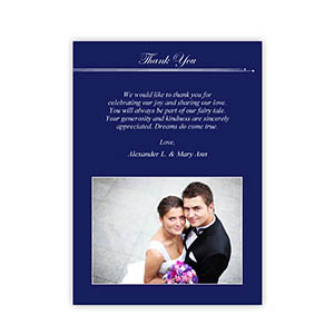 Create Your Own 5X7 Band Of Blue Thank You Card, Portrait