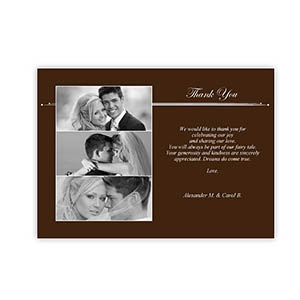 Create Your Own 5X7 Three Collage Band Of Chocolate Thank You Card