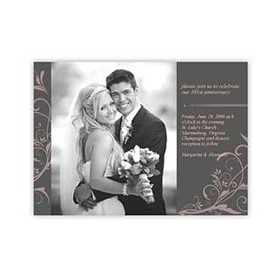 Create Your Own 5X7 Floral Lace Wedding Announcement, Landscape Cards