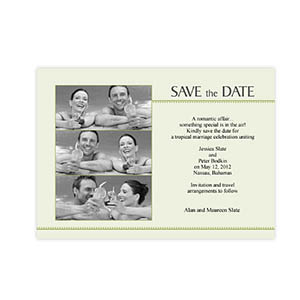 Create Your Own 5X7 Three Collage Feeling The Love Save The Date Cards
