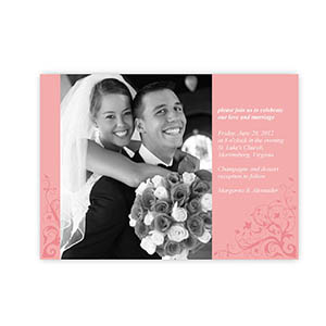 Create My Own 5X7 With Elegance Wedding Announcement Invitation Cards