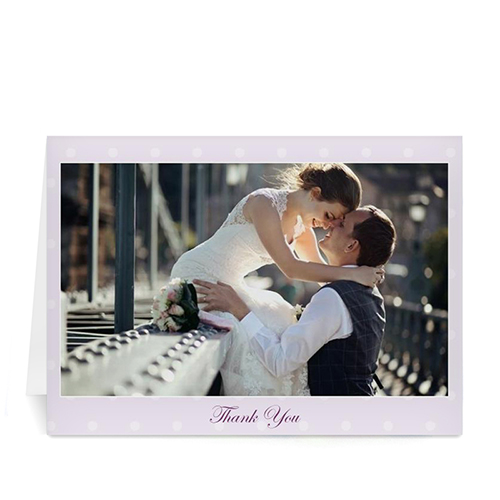 Custom Printed Love Package Thank You Card