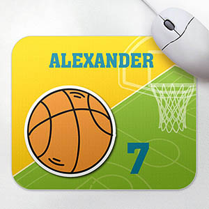 Personalized Athletic Mousepad, Basketball