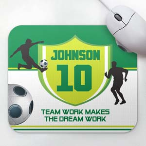 Personalized Soccer Player Mousepad