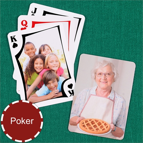 Personalized Modern Custom 2 Side Photo Playing Cards