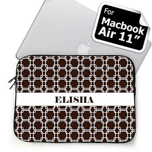 Custom Name Chocolate Links MacBook Air 11 Sleeve