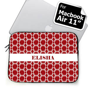 Custom Name Red Links MacBook Air 11 Sleeve